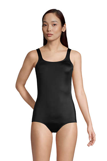 69f45c3e6b6c1 Women's Chlorine Resistant Tugless One Piece Swimsuit Soft Cup from Lands'  End