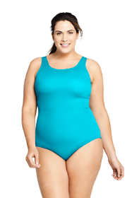 Women's Plus Size DD-Cup Chlorine Resistant Tugless One Piece Swimsuit Soft Cup