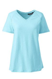 T-Shirt en Lin et Coton, Femme