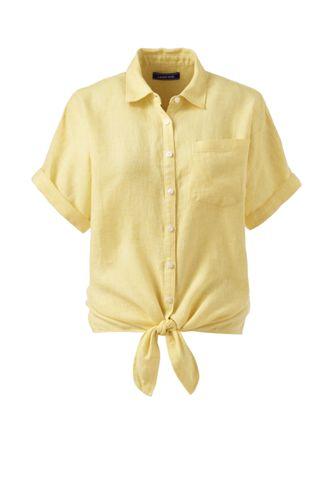 Women's Tie Front Linen Shirt