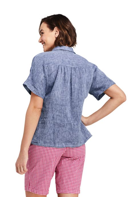 Women's Linen Tie Front Shirt