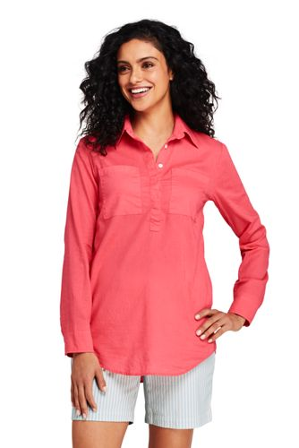 Women's Cotton/Linen Popover