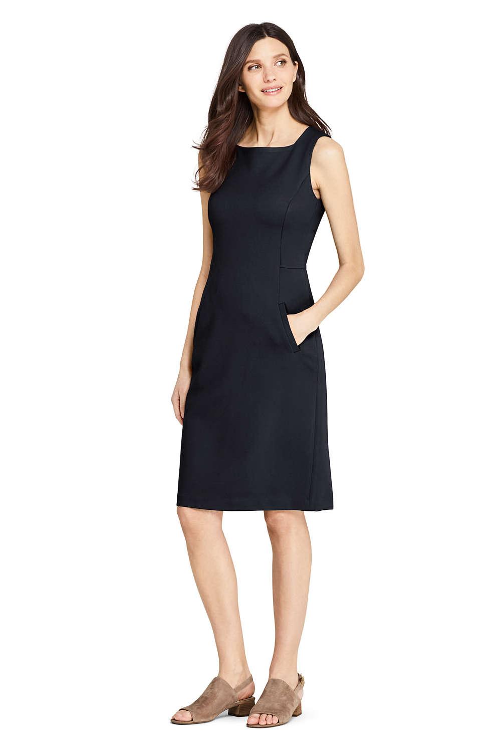 611ec8e140 Women s Sleeveless Square Neck Ponte Sheath Dress from Lands  End
