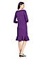 Ponté-Kleid mit Volant-Saum