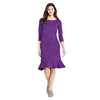 LandsEnd.com deals on Lands End Women's 3/4 Sleeve Ponte Shift Dress