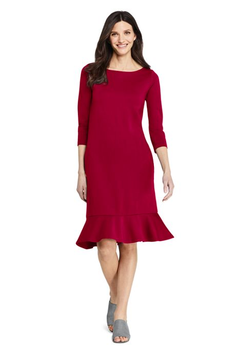 Women's 3/4 Sleeve Ponte Shift Dress