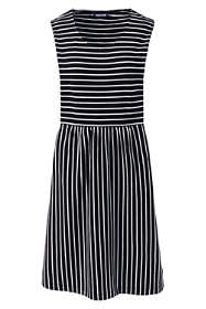 Women's Petite Sleeveless Knit Stripe Aline Dress