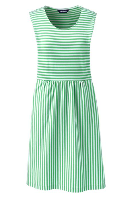 Women's Tall Sleeveless Knit Stripe Aline Dress