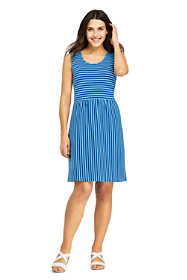 Women's Sleeveless Knit Stripe Aline Dress