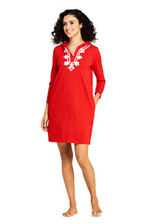 Women's Hooded Half-zip Beach Cover-up