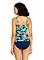 Tankini Imprimé Noeud sur Encolure, Femme Stature Standard