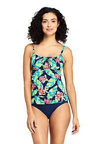 f6258f5cd3 Women's Tie Front Underwire Tankini Top Swimsuit Print