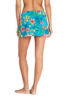 Women's Tulip Hem Mini SwimMini Swim Skirt Print, Back