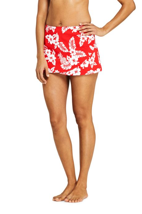 Women's Tulip Hem Mini SwimMini Swim Skirt Print