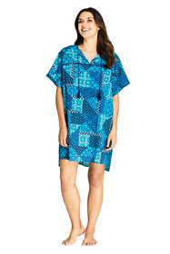 Women's Cotton Voile Short Sleeve Kaftan Swim Cover-up Print