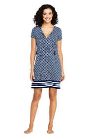 Women's Swim Cover-up Notch Neck Dress with UV Protection Print