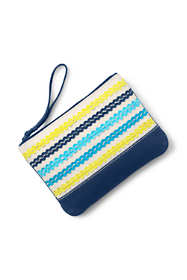 Medium Stripe Zipper Pouch