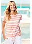 Gemustertes Shirt mit Knoten aus Leinenmix für Damen