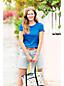 Taillenhohe gestreifte Jeans-Shorts für Damen