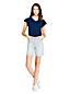 Short en Jean Indigo Stretch Taille Haute, Femme Stature Standard