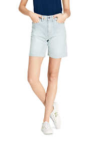 "Women's High Rise 5 Pocket 7"" Stripe Jean Shorts"