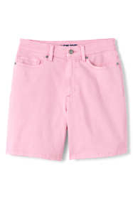 "Women's Plus Size High Rise 5 Pocket 7"" Colorful Jean Shorts"