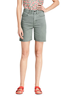 Women's High Waist Coloured Denim Shorts