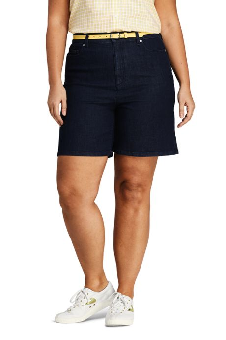 bf6e837483c ... Blue Jean Shorts · Women s Plus Size High Rise 5 Pocket ...