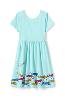 Little Girls Fit and Flare Dress, Back