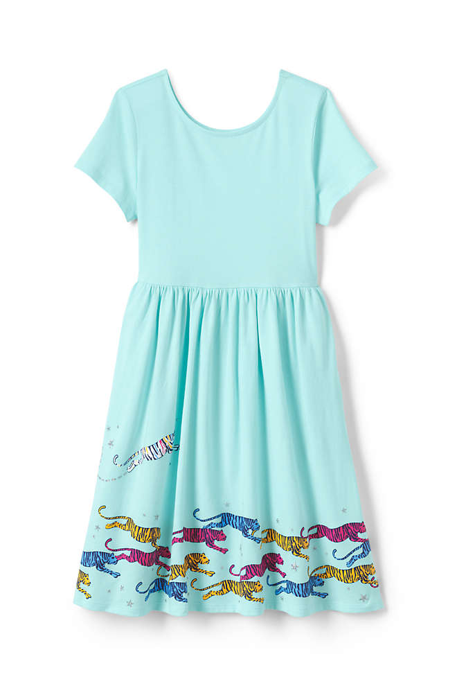 Little Girls Fit and Flare Dress, Front