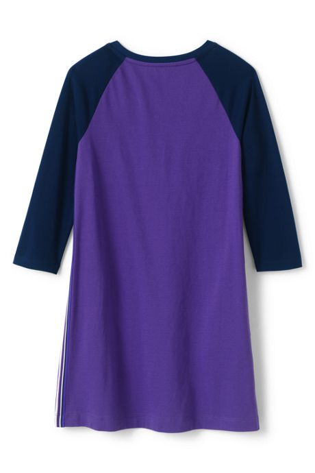Little Girls 3/4 Sleeve Tee Shirt Dress