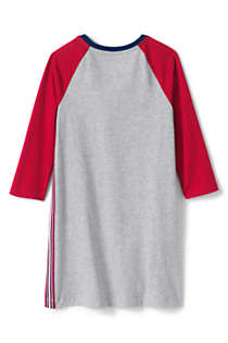 Girls 3/4 Sleeve Tee Shirt Dress, Back