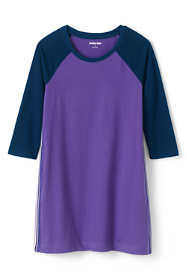 Girls Plus Size 3/4 Sleeve Tee Shirt Dress