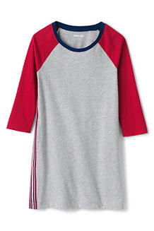 Girls' Three-quarter Sleeve T-shirt Dress