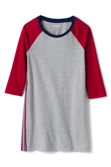 Girls 3/4 Sleeve Tee Shirt Dress