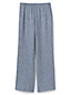 Women's Petite Wide Leg Linen Blend Trousers