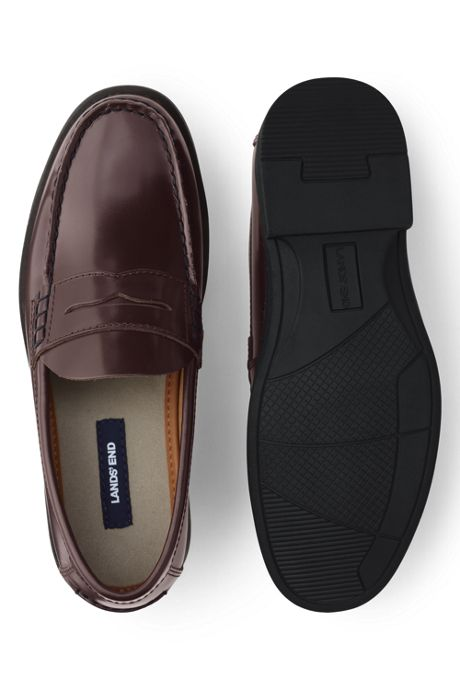 School Uniform Men's Leather Penny Loafers