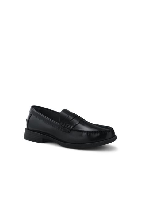 School Uniform Men's Leather Slip On Penny Loafer Shoes