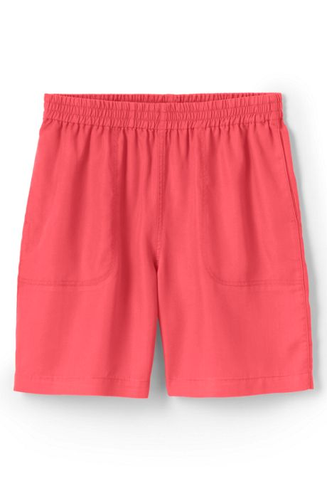 Women's Slub Tencel Pull On Shorts