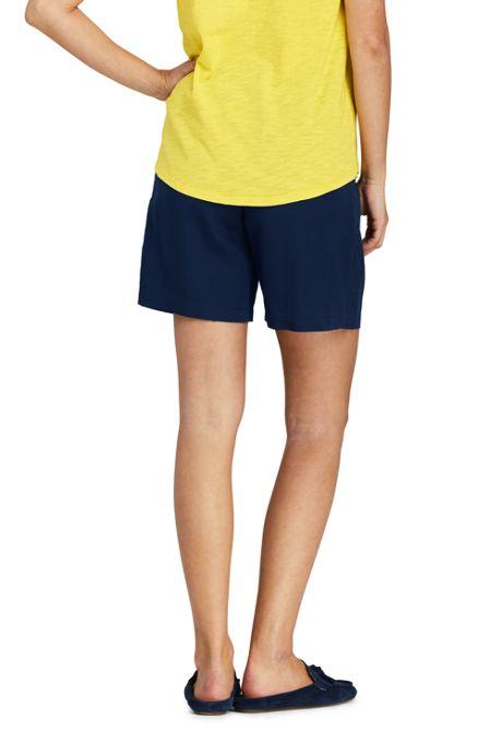 Women's Slub Tencel Pull On Shorts