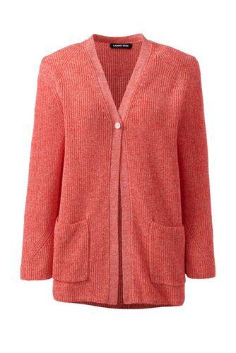 Shaker-Cardigan aus Leinen/Baumwolle für Damen in Petite-Größe