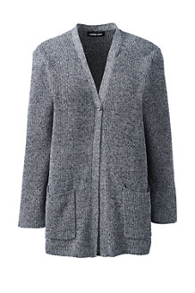 Women's Linen/Cotton Shaker Stitch Cardigan
