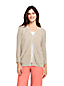 Women's Petite Linen/Cotton Shaker Stitch Cardigan