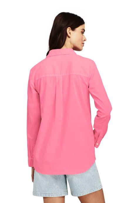 Women's Cotton Linen Popover Shirt