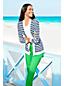 Cardigan Rayé Fines Mailles en Coton, Femme Stature Standard