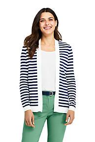 2b372d25efd Women s Long Sleeve Supima Stripe Open Cardigan Sweater