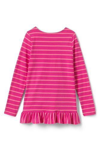 Girls Long Sleeve Pattern Tunic Top