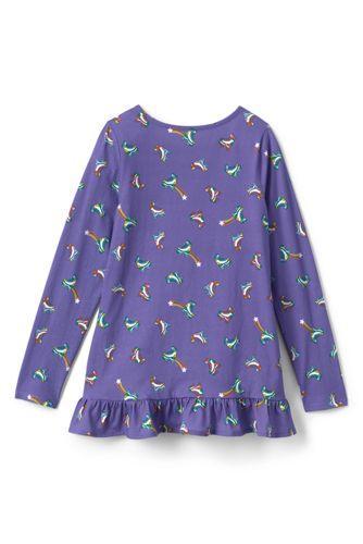 Girls Plus Size Long Sleeve Pattern Tunic Top