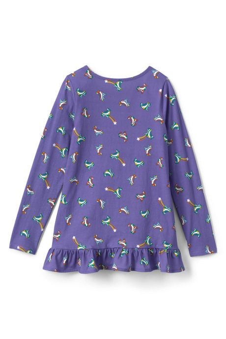 Little Girls Long Sleeve Pattern Tunic Top