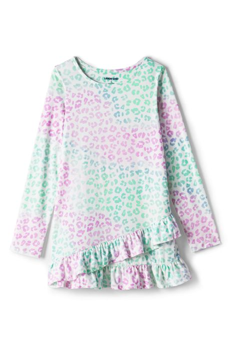 Girls Long Sleeve Pattern Tunic Top